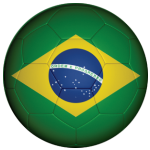 Brazil Football Flag 58mm Mirror